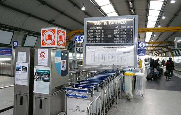 ローマ・フィウミチーノ空港の空港駅