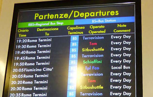ローマの空港