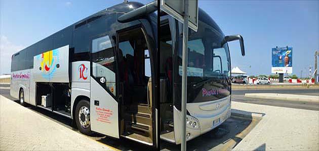 パレルモ空港のシャトルバス