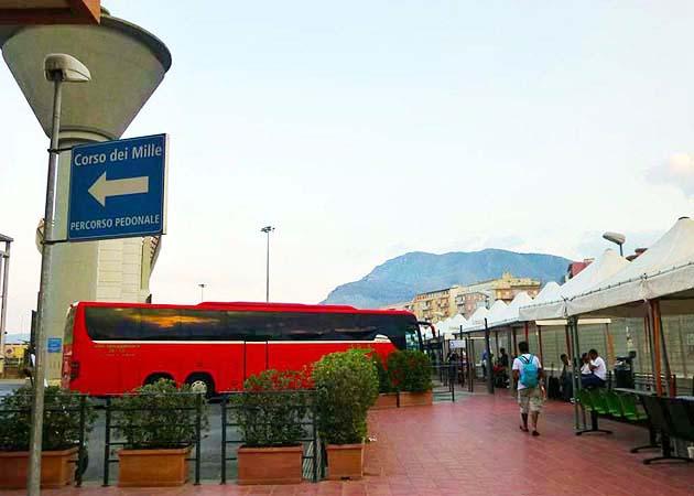パレルモのバスターミナル