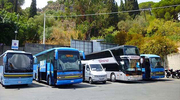 タオルミーナのバスターミナル