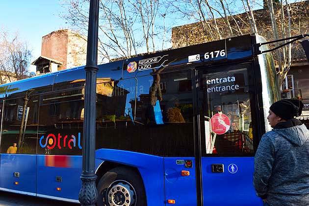ティヴォリのCotralバスの停留所