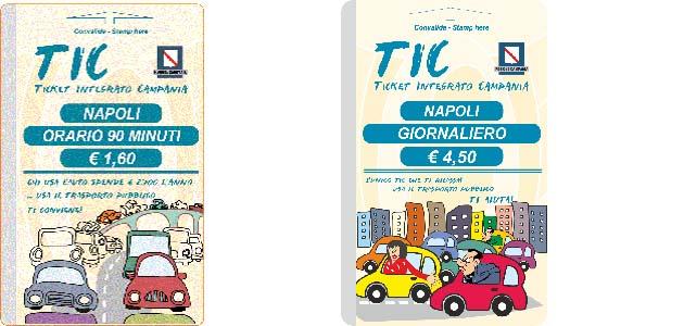 ナポリの公共交通機関のチケット