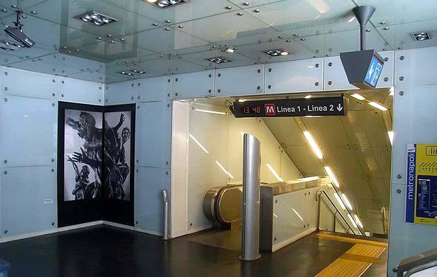 ナポリの地下鉄LINE1のムゼオ駅