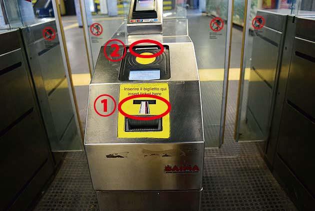 ローマ・テルミニ駅地下鉄B線の乗り方