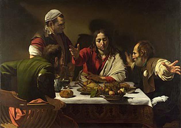 エマオの晩餐・カラヴァッジョ