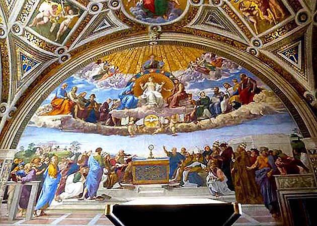 ヴァティカン美術館のラファエロの署名の間