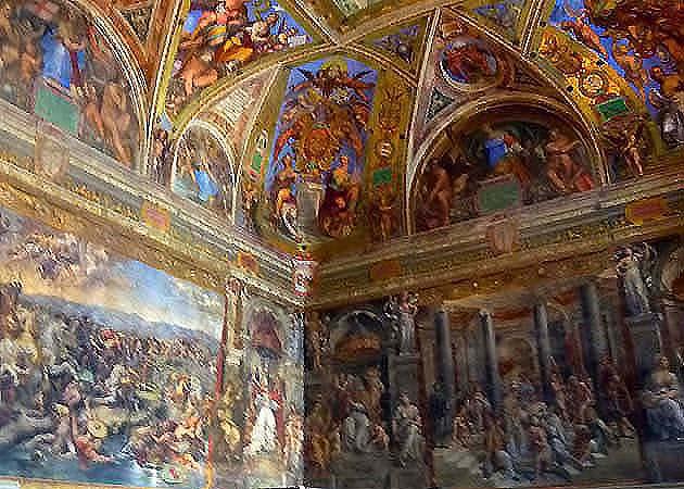 ヴァティカン美術館のラファエロのコンスタンティヌスの間