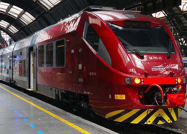 マルペンサ空港発の列車マルペンサ・エクスプレス