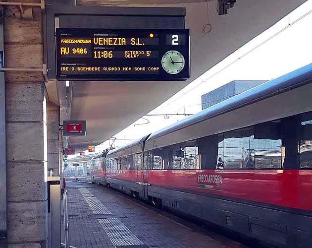 列車でパドヴァへアクセス パドヴァ駅