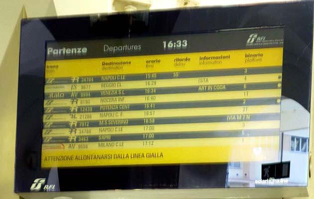 サレルノ駅・南イタリア