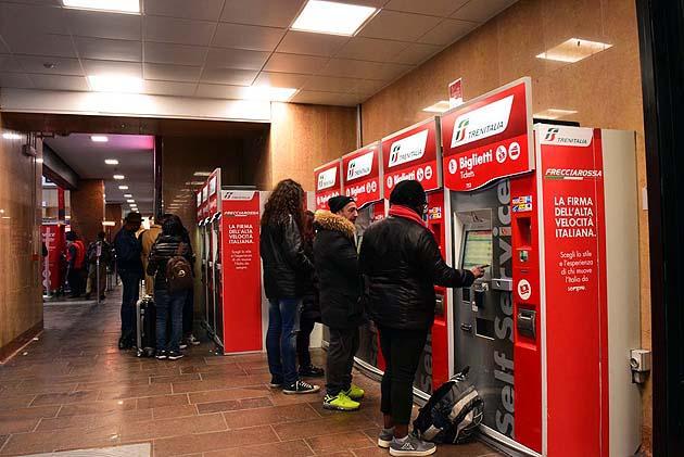 ヴェローナPN駅のチケット購入方法