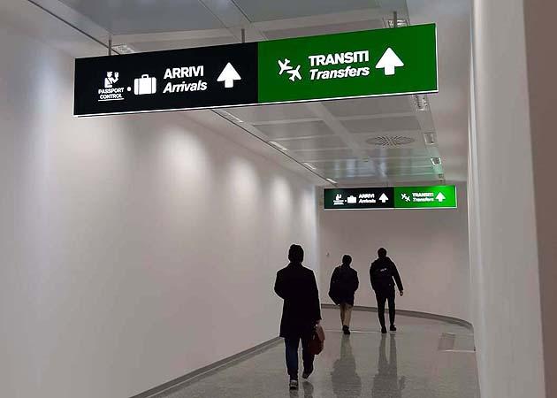 ミラノ・マルペンサ空港 到着ターミナル