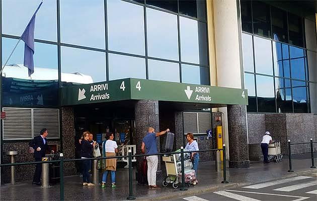 ミラノの空港