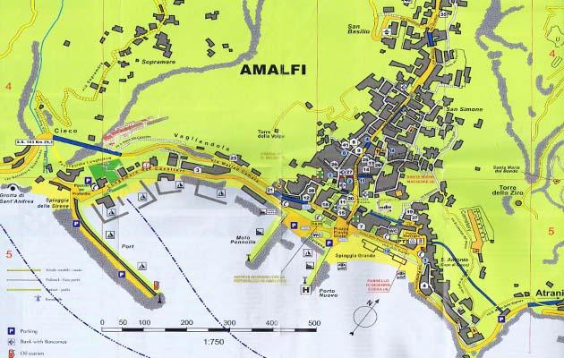 アマルフィの現地MAP