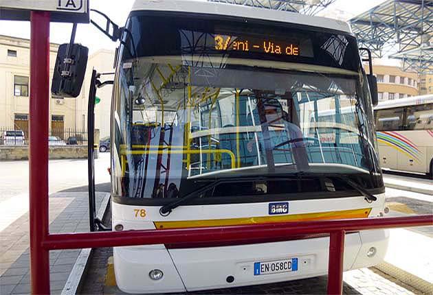 アグリジェント発の神殿の谷行きバス