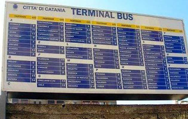 カターニアのバスターミナル