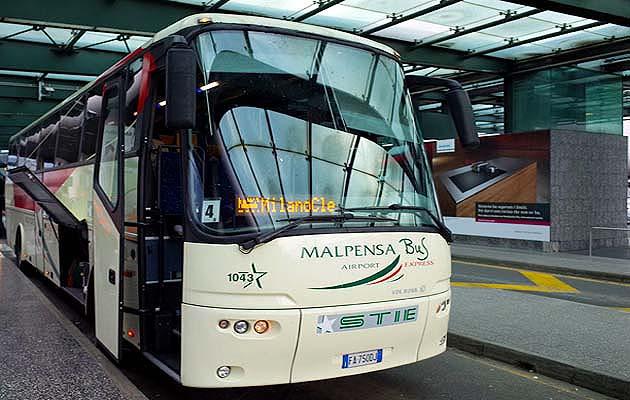 ミラノの空港シャトルバス