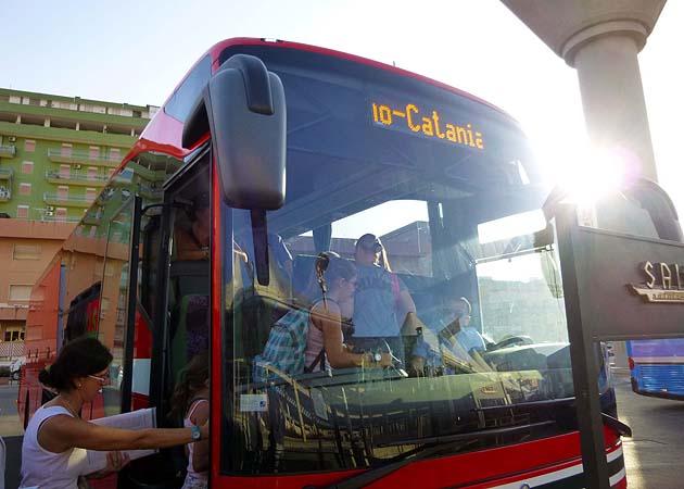 パレルモ発カターニア行きバス