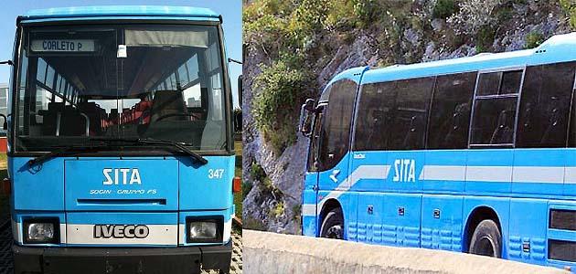 ポジターノ行きSITAsud社のバス