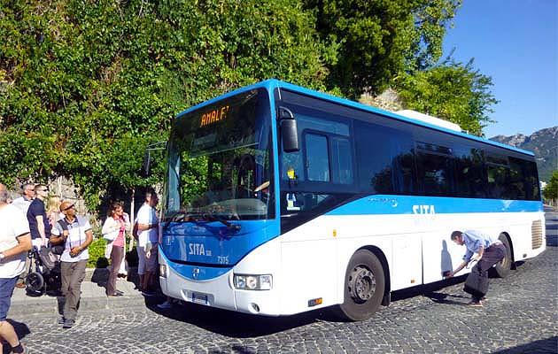 ラヴェッロのバス乗り場・停留所