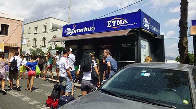タオルミーナのバス・ターミナル