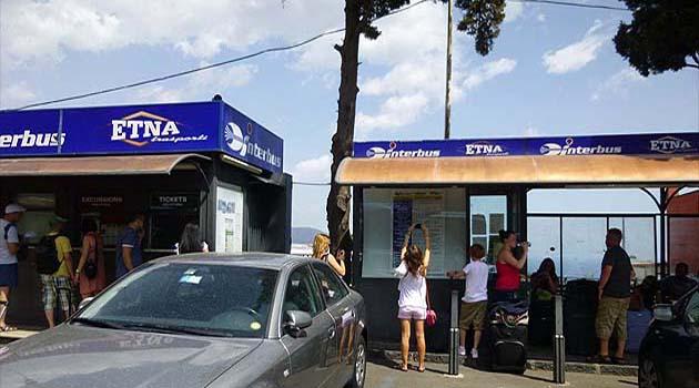 タオルミーナのバス・チケット売り場
