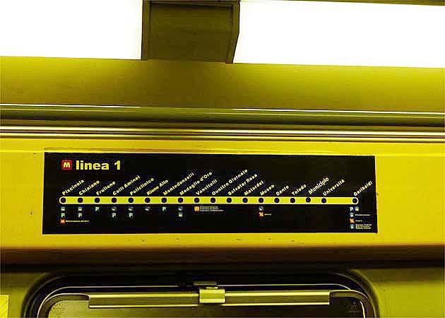 ナポリの地下鉄LINE1