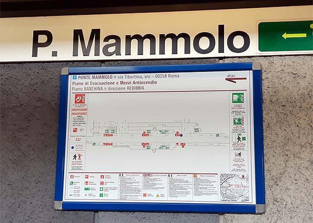 地下鉄ローマ・ポンテ・マンモロ駅
