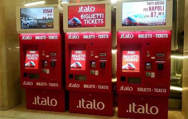 イタリアの自動券売機で列車チケット購入する方法