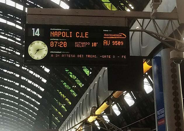 イタリアの列車の乗車方法
