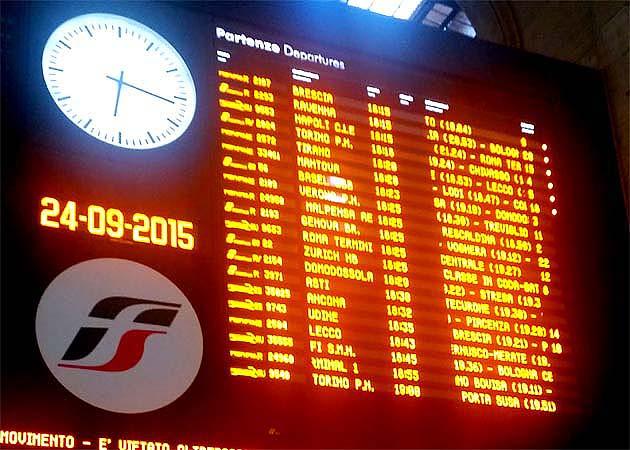 イタリアの列車乗車方法