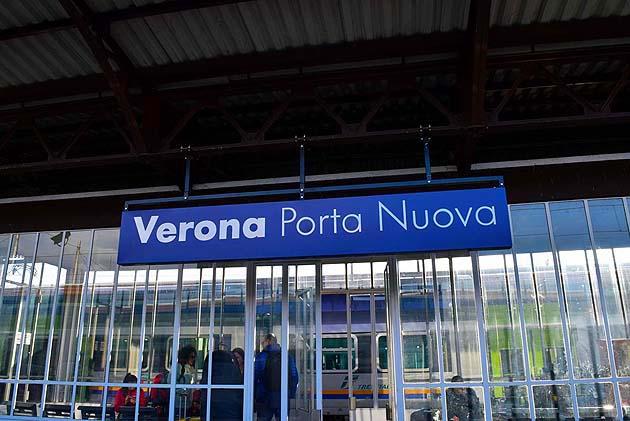 列車でヴェローナへアクセス ヴェローナ・ポルタ・ヌオーヴァ駅