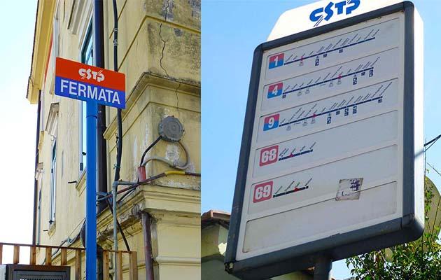 ヴィエトリ・スル・マーレのバス乗り場、停留所MAP