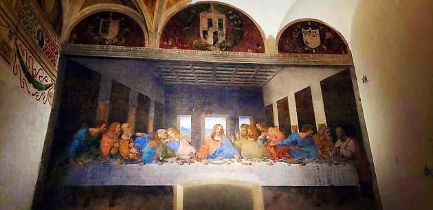 ドメニコ会修道院食堂のレオナルド・ダ・ヴィンチ「最後の晩餐」・ミラノ