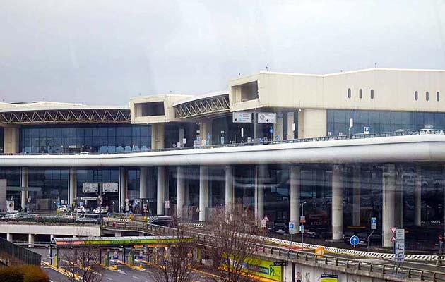 ミラノの空港マルペンサ