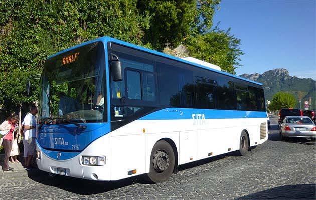 バスでラヴェッロへアクセス イタリア